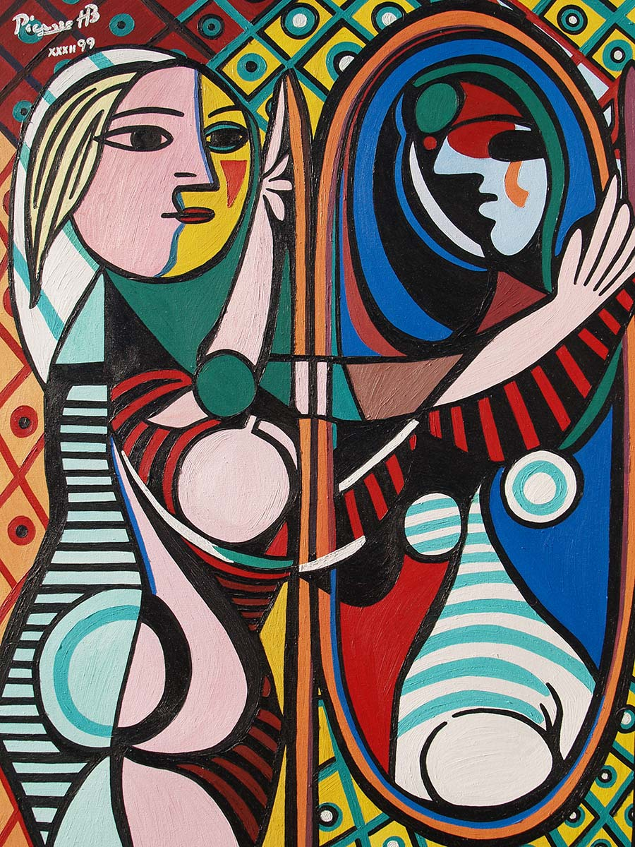 Mdchen vor einem Spiegel Picasso Poster bei AllPostersde